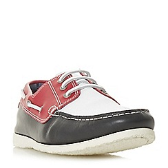 Dune - Red 'Barge' classic boat shoes