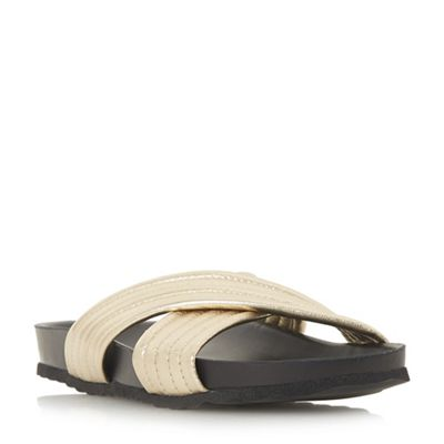 Dune - Gold 'Linate' mules Fashionable and eye-catching shoes