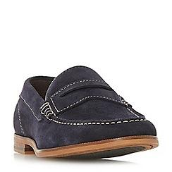 Dune - Navy 'Bayern' saddle loafers