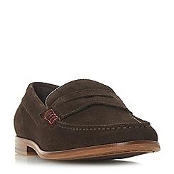 Dune - Brown 'Bayern' saddle loafers