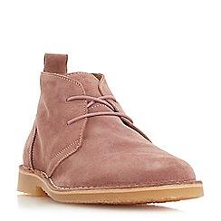 Dune - Pink 'Chorizo' suede desert boots