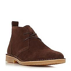 Dune - Brown 'Chorizo' suede desert boots
