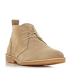 Dune - Beige 'Chorizo' suede desert boots