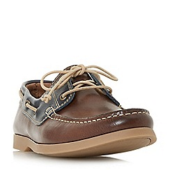 Bertie - Brown 'Battleship' lace up boat shoes