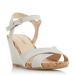 Roberto Vianni - Grey 'Koreena' high wedge heel ankle strap sandals