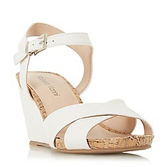 Roberto Vianni - White 'Koreena' high wedge heel ankle strap sandals