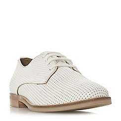 Dune - White leather 'Fexton' lace-up shoes
