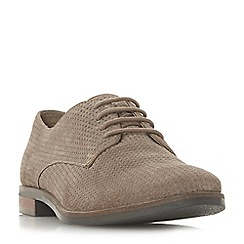 Dune - Natural suede 'Fexton' lace-up shoes
