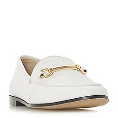 Dune - White leather 'Guilt' loafers
