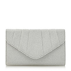 Roland Cartier - Silver Beverly' diamante pleat detail clutch bag