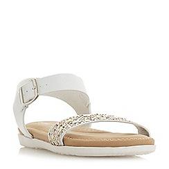 Roberto Vianni - White 'Luton' ankle strap sandals
