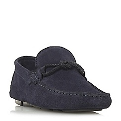 Bertie - Navy 'Bandit x' weave knot lace driver loafers