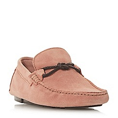 Bertie - Pink 'Bandit x' weave knot lace driver loafers