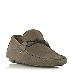 Bertie - Grey 'Bandit x' weave knot lace driver loafers