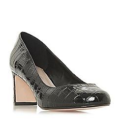 Dune - Black 'Wf addena' high block heel wide fit court shoes