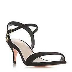 Dune - Black suede 'Wf monnrow' stiletto heel wide fit ankle strap sandals
