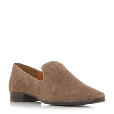 Dune - Natural suede 'Galia' loafers