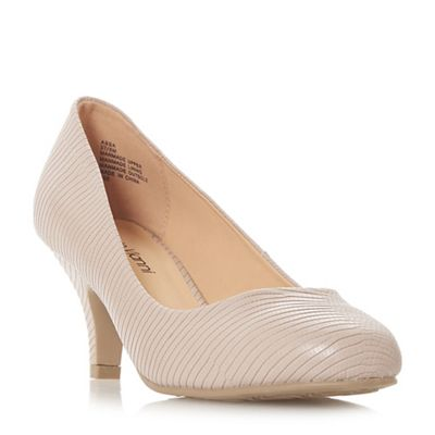 Roberto Vianni - Natural 'abba' mid kitten heel court shoes