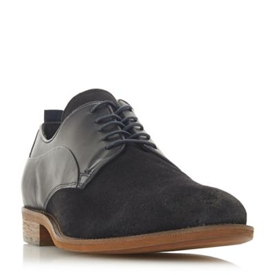 Bertie - Navy 'Branco' perforated lace up derby shoes