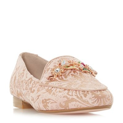 Dune - Rose suede 'Goldey' loafers