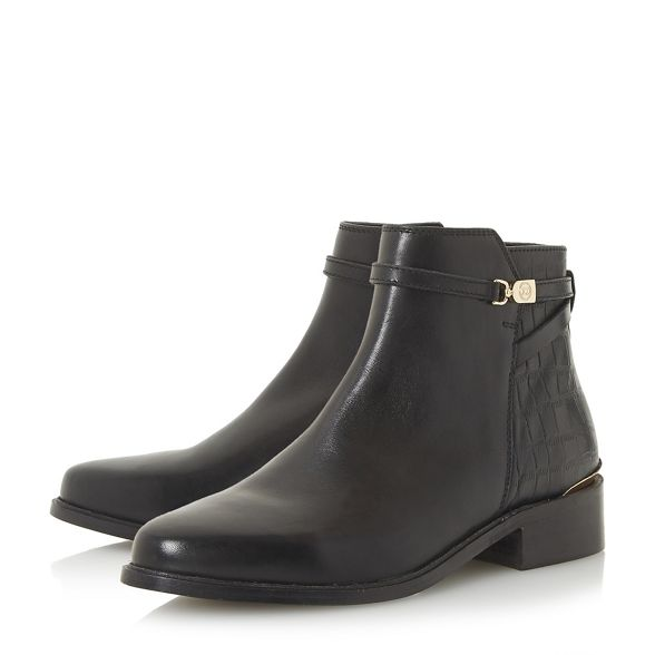 ankle 'Peppy' leather boots Dune Black 7ztqwzH
