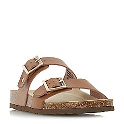 Head Over Heels by Dune - Tan 'Lasso' ankle strap sandals