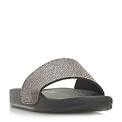 Dune - Black 'Lipstick' mule slippers