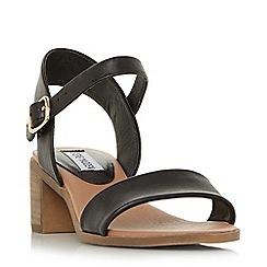 Steve Madden - Black 'April' mid block heel ankle strap sandals