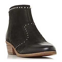 Steve Madden - Black leather 'Shany' mid block heel ankle boots