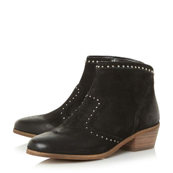 heel nbsp; ankle Black nbsp; 'Shany' block boots leather Madden Steve mid YqOZwAAg