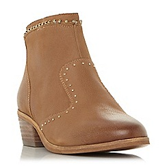 Steve Madden - Tan leather 'Shany' mid block heel ankle boots