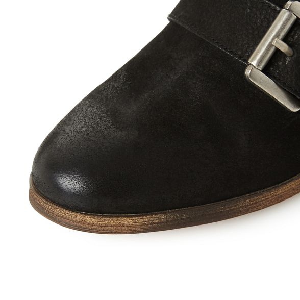 heel nbsp; Madden ankle 'Straps' Black leather Steve boots mid nbsp; block g4YqWx