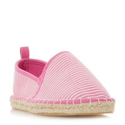 Head Over Heels by Dune - Pink canvas 'Galinda' espadrilles