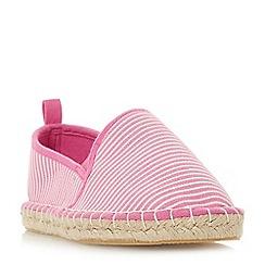 Head Over Heels by Dune - Pink canvas 'Galinda' espadrilles