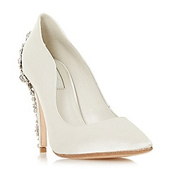 Dune Ivory Satin Be Wedd High Heel Court Shoes