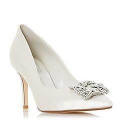 Dune - Ivory satin 'Breaann' mid stiletto heel court shoes