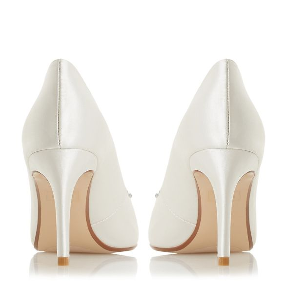 'Breaann' satin Dune shoes Ivory heel stiletto mid court qBTw1EH