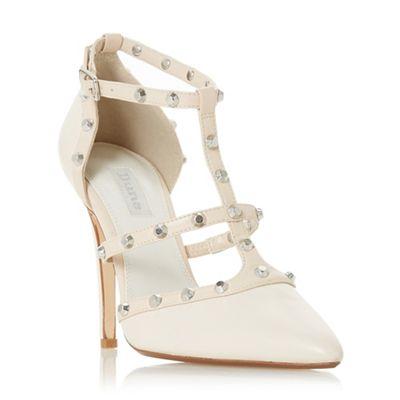 Dune - Ivory leather 'Daeneryss' high stiletto heel court shoes