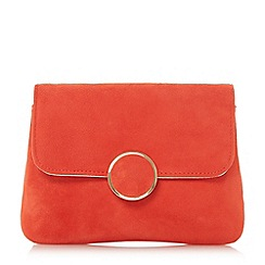 Dune - Orange 'Bonie' fold over clutch bag