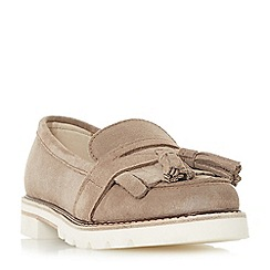 Dune - Natural suede 'Gennaa' loafers