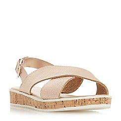Dune - Rose leather 'Lorde' ankle strap sandals