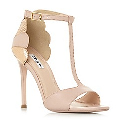 Dune - Light pink suede 'Mytho' high stiletto heel ankle strap sandals