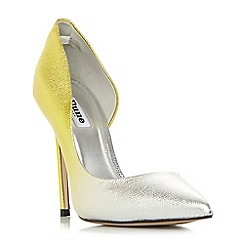 Dune - Yellow leather 'Chica' court shoes