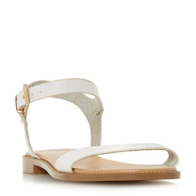 Head Over Heels by Dune - White 'natallia' ankle strap sandals