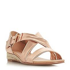 Head Over Heels by Dune - Rose 'Kylaa' wedge heel espadrilles