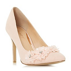 Head Over Heels by Dune - Natural 'Ayria' high stiletto heel court shoes