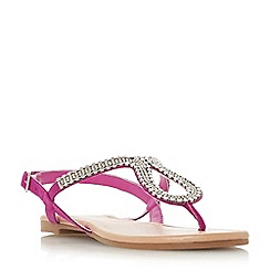 Head Over Heels by Dune - Pink 'kimmba' ankle strap sandals
