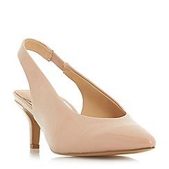 Head Over Heels by Dune - Natural 'Cherry' kitten heel court shoes
