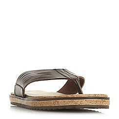 Bertie - Brown 'Isolate' wide strap toe post sandals