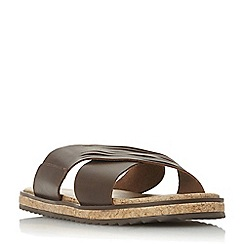 Bertie - Brown 'Iric' wide cross over strap sandals